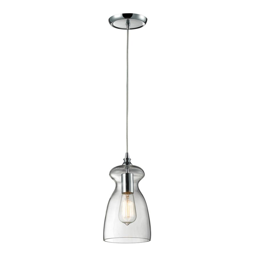 126 shop westmore lighting alvingham 6 in w polished chrome and 126 shop westmore lighting alvingham 6 in w polished chrome and clear glass mini pendant light with clear shade at lowes aloadofball Gallery