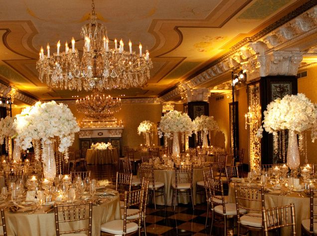 Elegant indoor wedding reception florals and decorations idea need elegant indoor wedding reception florals and decorations idea need a higher ceiling for this one junglespirit Image collections