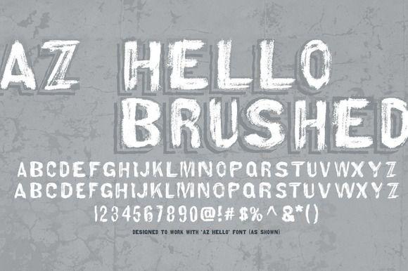 AZ Hello Brushed by Artistofdesign on @creativemarket