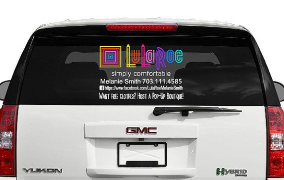 COLOR LuLaRoe Rear Window Car Decal LuLaRoe Personalized Window - Window decals for vehicles personalized