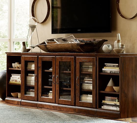 Printer's Media Stand, Large, Tuscan Chestnut stain | Front rooms ...