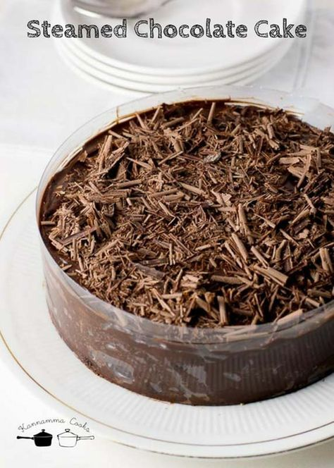 Eggless steamed Chocolate cake - Easy beginners recipe ...