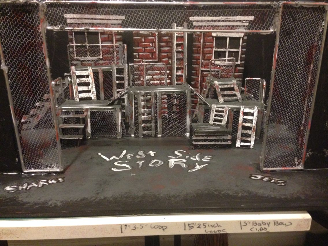 we re all in this together in disney channel s smash hit musical west side story set design model by cody rutledge