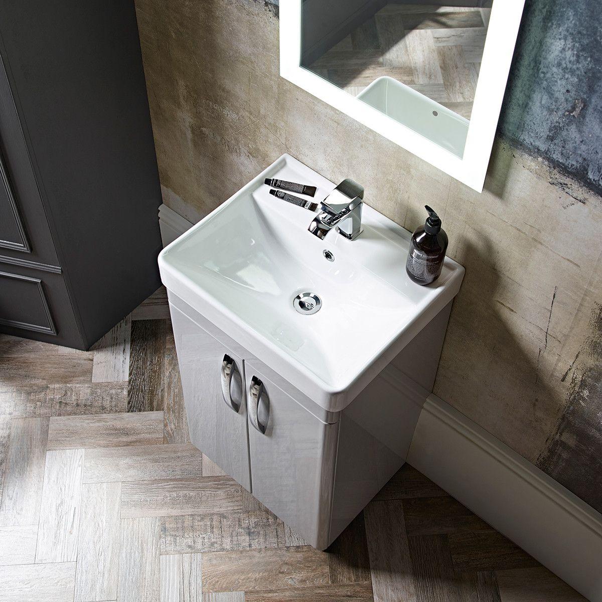 Tavistock Compass Vanity Unit & Basin Grey 500 | Tavistock Bathrooms ...