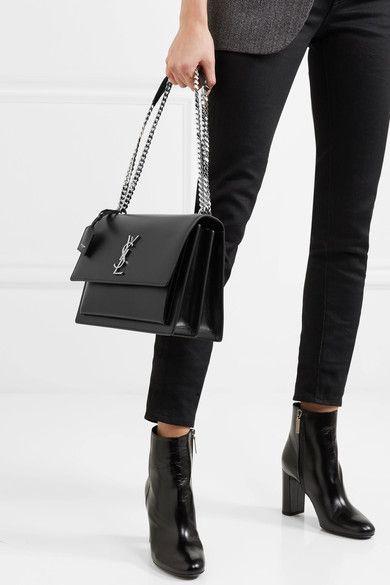 bcd9640a0d9 Saint Laurent - Sunset large leather shoulder bag   Products   Bags ...