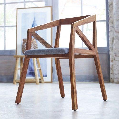chaise originale en palissandre massif pas cher tikamoon - Chaise Originale Pas Cher