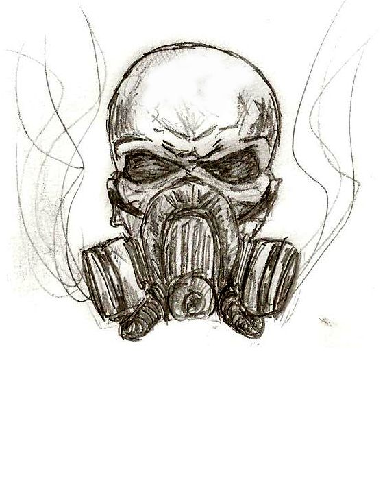 skull wings gas mask logo …  gas mask drawing skulls