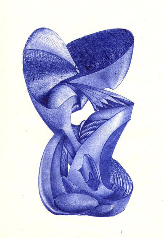 On the wings of imagination: ballpoint pen art by Blagojce Dumovski