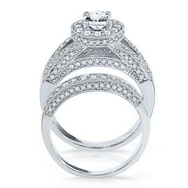 Vivaldi 1 34ct TW Diamond Engagement Ring Set in 14K Gold