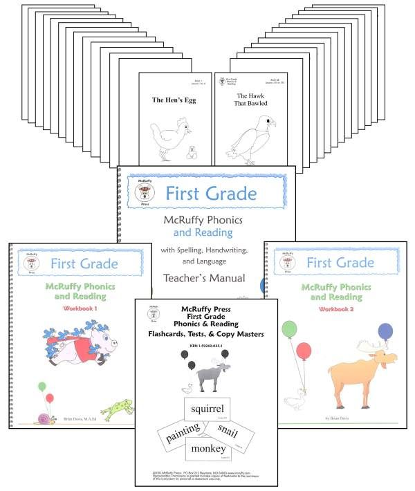 Phonics and Reading First Grade Kit