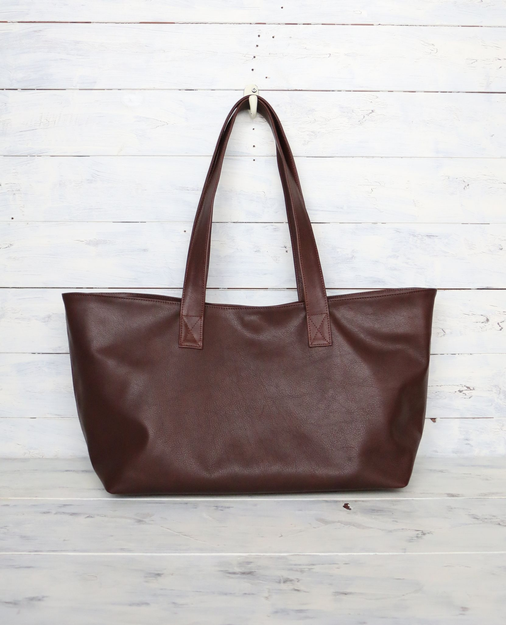 9394faa711d Chocolate-brown Leather tote bag - Unique, One of a kind , My ...