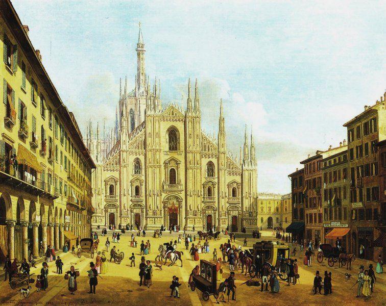 Piazza del Duomo di Milano, 1832 Duomo di milano, Milano