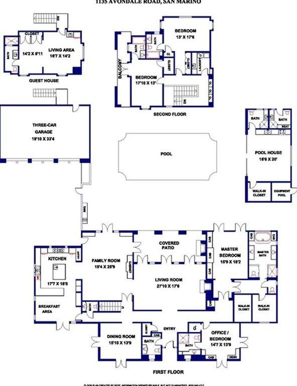 1135 Avondale Rd San Marino Ca Floor Plans French Country Manor Avondale