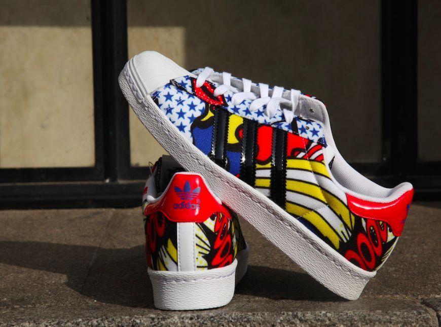 Nuove adidas originali shelltoe superstar 80 dei fumetti di rita ora scarpa