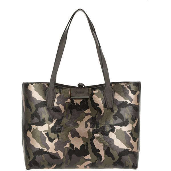 78f8d7c33e Guess Handle Bag - Bobbi Inside Out Tote Camo Grey - in green