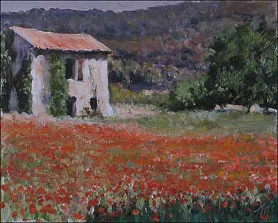 Print Of Old Cabanon And Poppies Prints Painters Studio