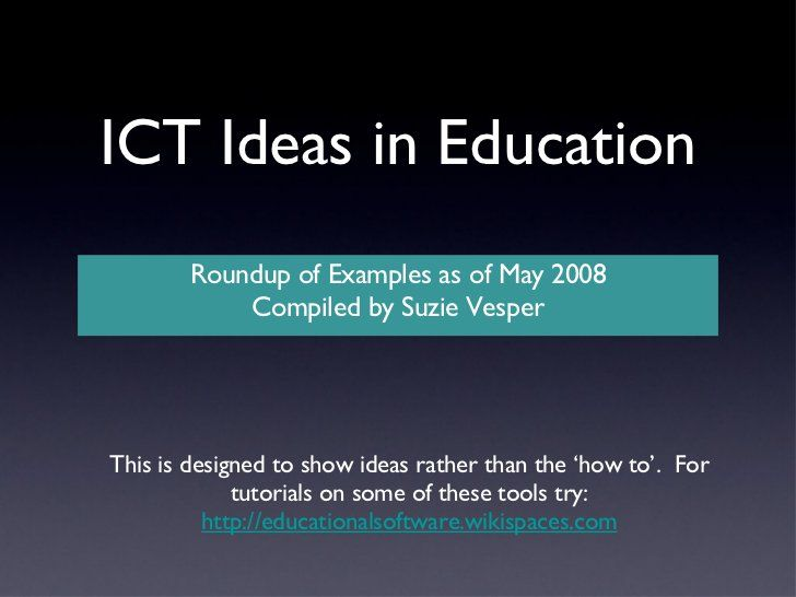 ict examples presentation by suzie vesper via slideshare ict  interesting presentation topics for teenagers ict examples presentation