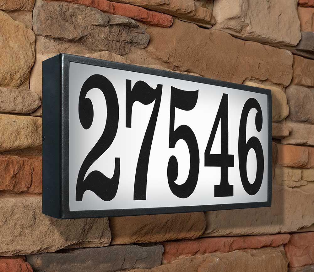 Luxury Lighted Address Plaque