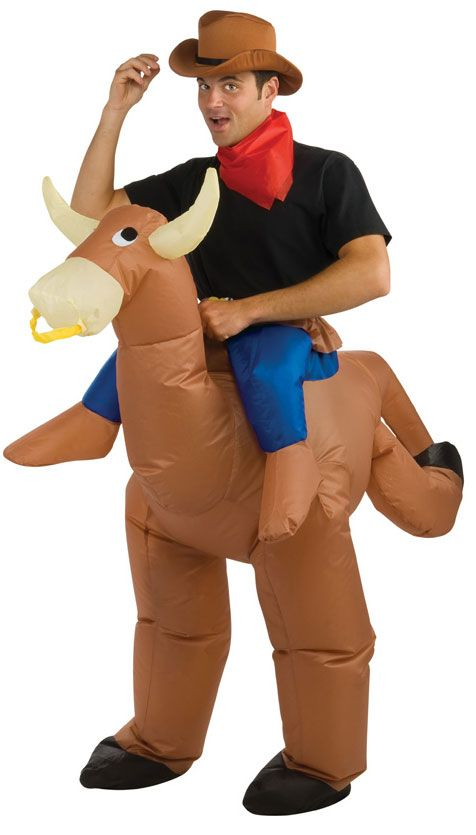 Bull Rider Halloween Costume for Adults. fun and silly inflatable costume.  includes  hat 5902ebade9d