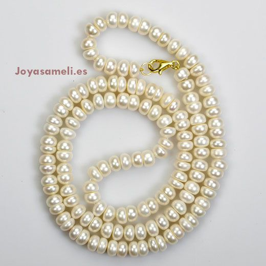 Collar de mujer de perlas cultivadas 12mm, largo 90cm