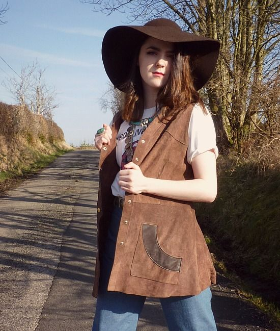 a3941abb44afb1 70s vintage suede waistcoat waistcoat, brown suede, 70s vintage. Find more  styles like this at www.thestellarboutique.com or get inspired by following  out ...