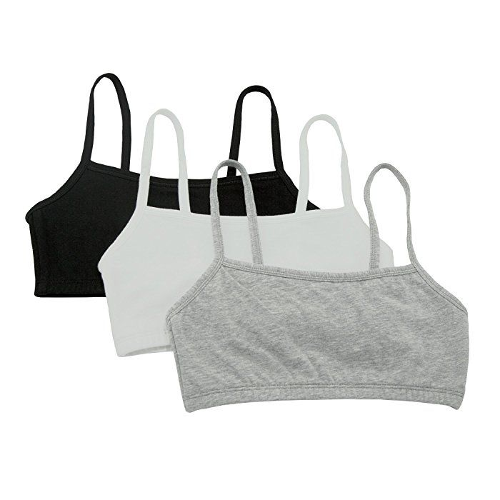 9998bf51df Fruit of the Loom Women s Cotton Pullover Sport Bra (Pack of 3 ...