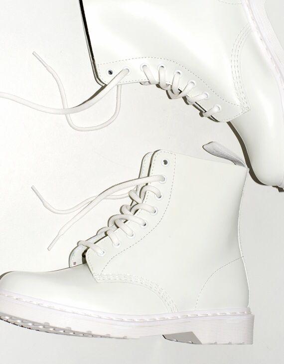 white doc martens | White combat boots