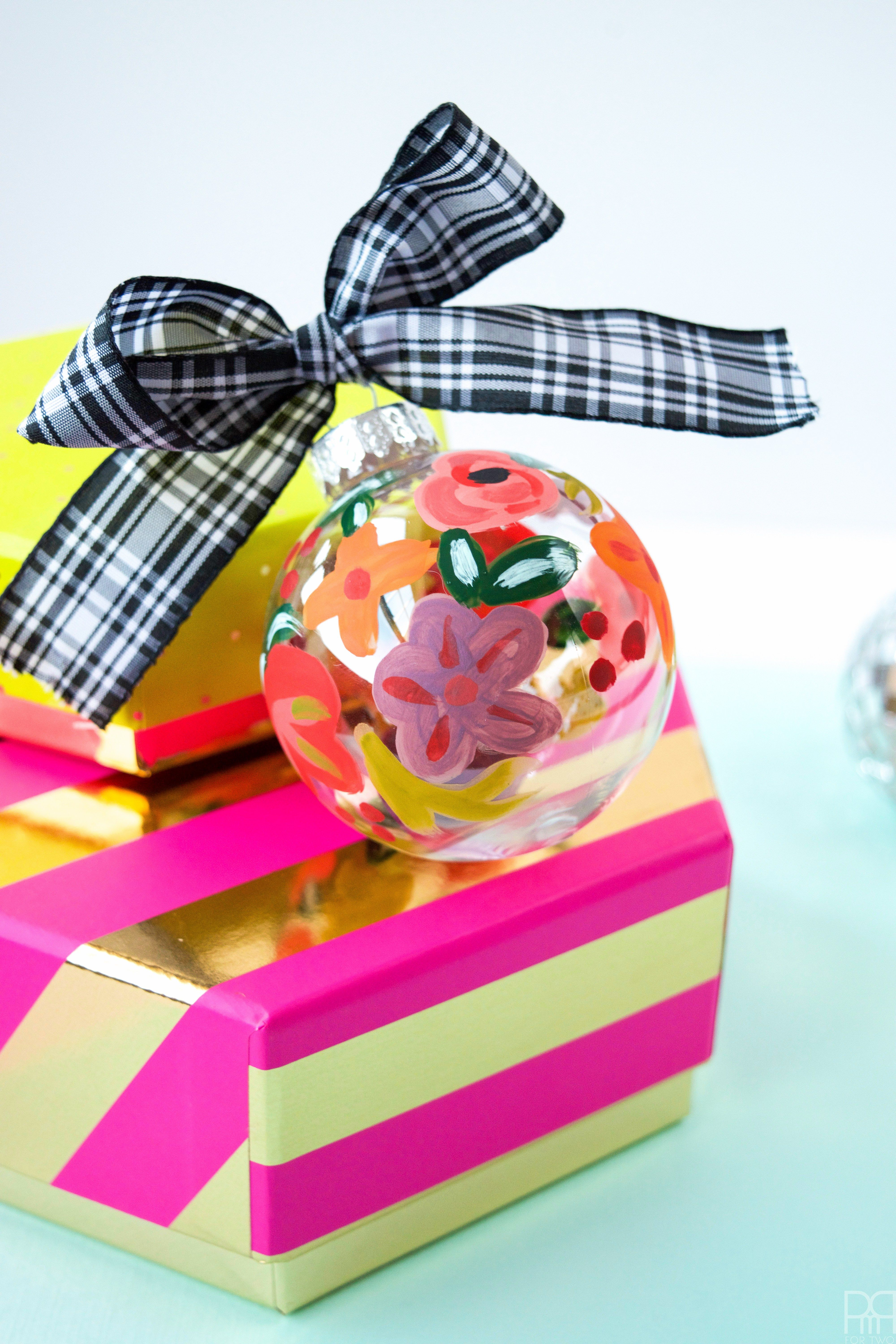 Rifle Paper C0 Inspired DIY Painted Ornaments   PMQ For Two ...