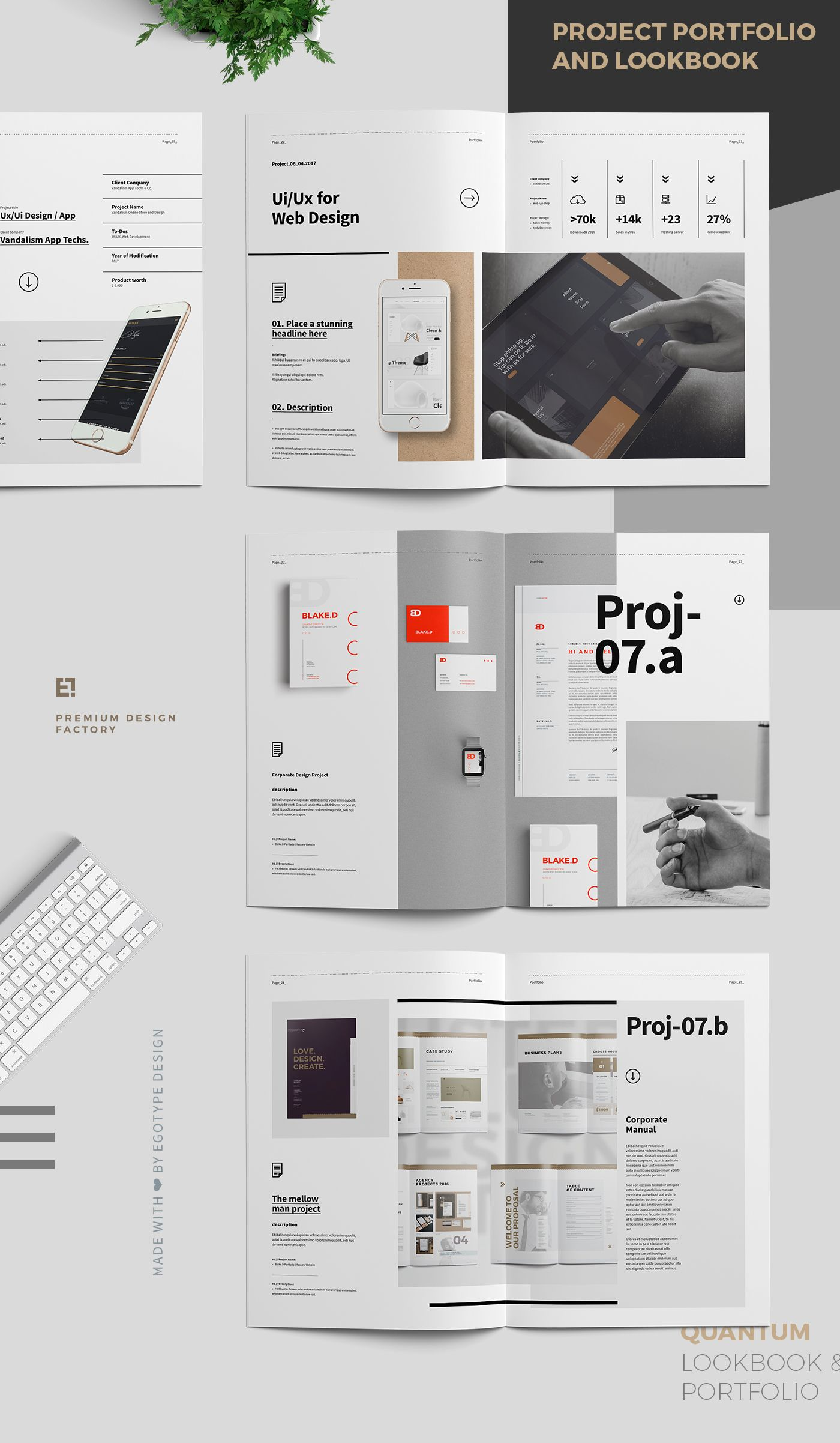 Portfolio And Project Lookbook On Behance Portfolio Web Design Graphic Designer Portfolio Portfolio Template Design