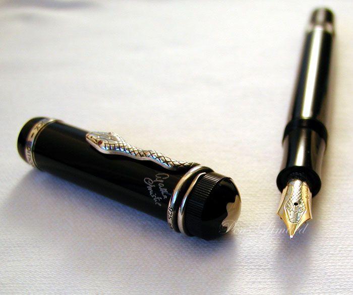 stylo mont blanc agatha christie