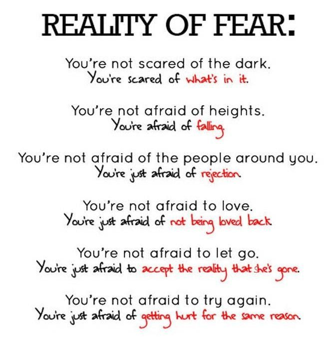 Edit The First One You Re Not Scared Of The Dark You Re Scared Of What You Cannot See Words Inspirational Quotes Scared Of The Dark