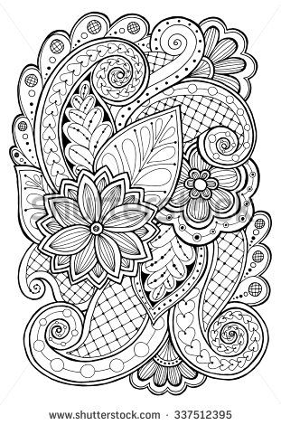 Zentangle Flowers Stock Photos, Images, & Pictures | Shutterstock ...