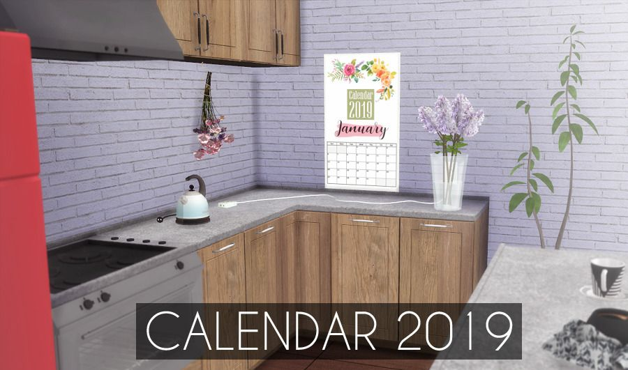 DescargasSims: Calendar 2019 §10 DOWNLOAD! (New CC On