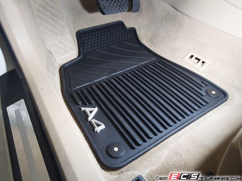 All Weather Rubber Floor Mat Set Black