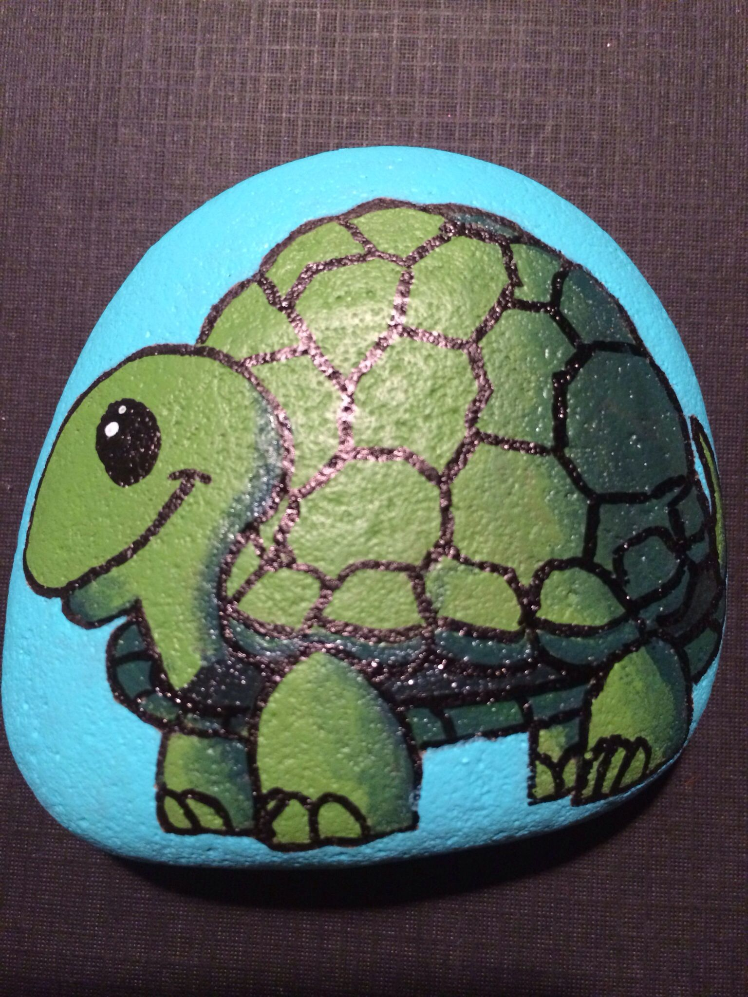 Little Turtles Rock Stands Up Painted For A Home That Accommodates Authorized Visitation