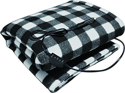 Sojoy 12v Heated Travel Electric Blanket For Car Truck Boats Or Rv With High