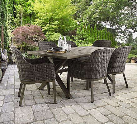 $798 The 7 PC Crown View Dining Set Is Constructed Using A Two  Step Finish