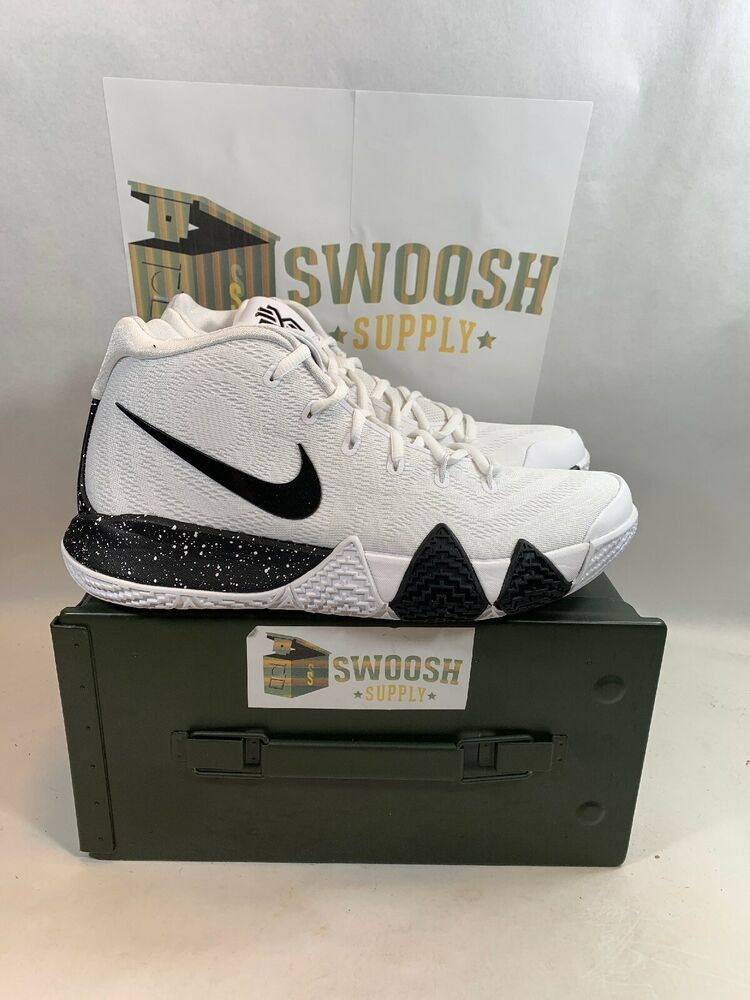 757f779180f4 Nike Kyrie 4 TB Mens AV2296-100 White Black Team Bank Basketball Shoes Size  9  Nike  BasketballShoes
