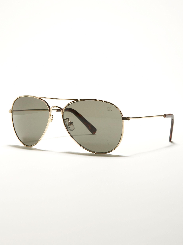 Banana Republic\'s Shawn Sunglasses with classic metal aviator frame ...