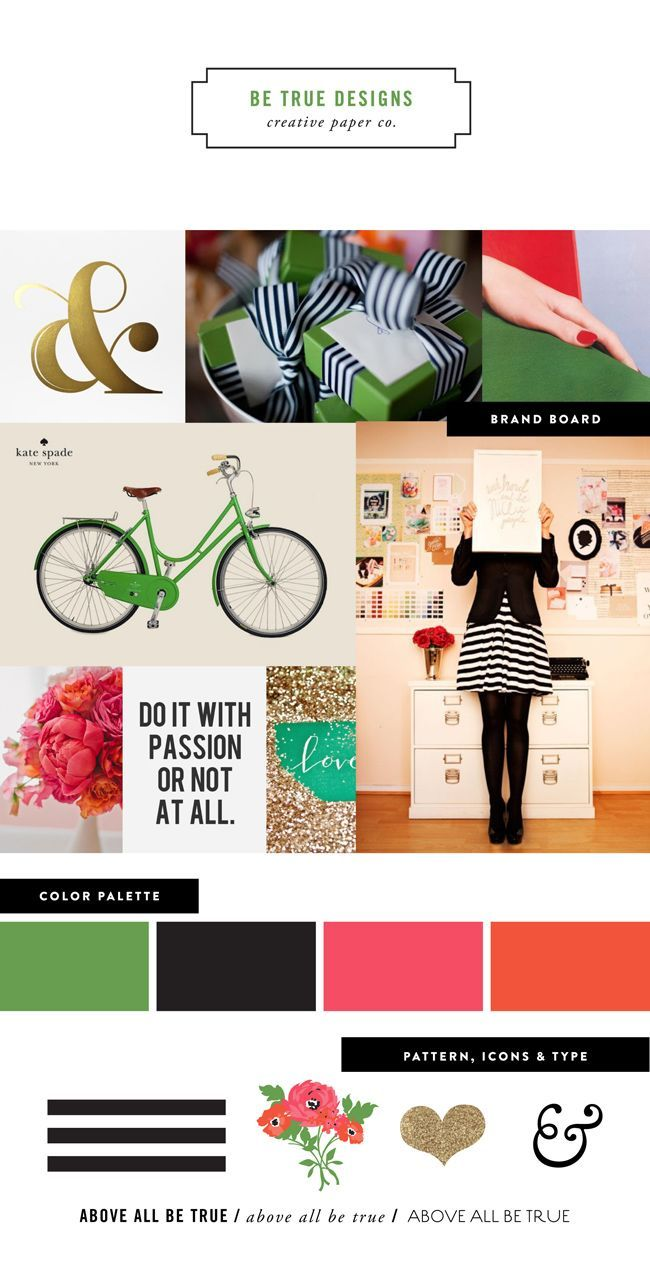 Brand mood board by Be True Designs | How to create a mood board ...