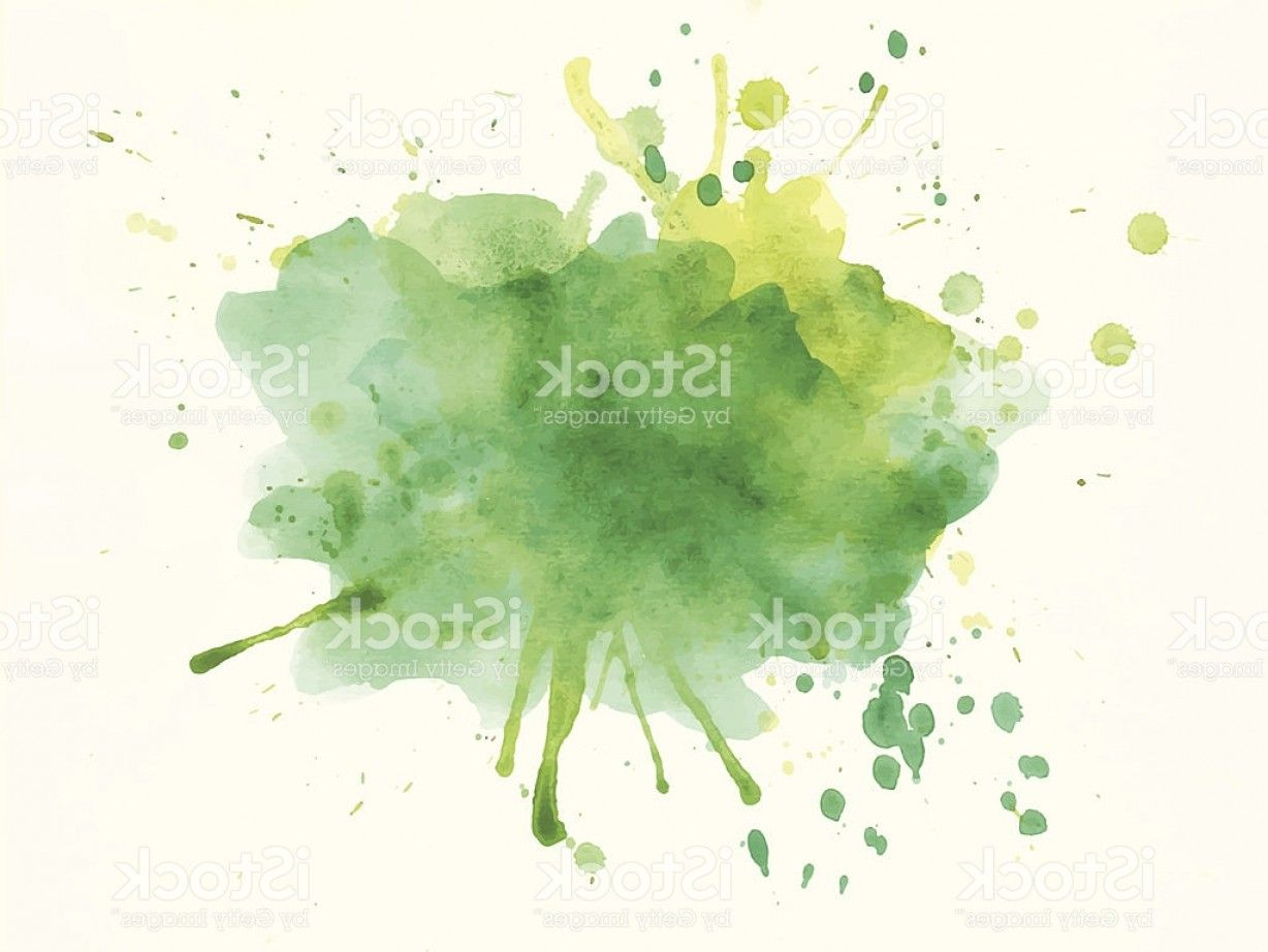 Yellow Watercolor Splash Vector Green And Yellow Watercolor