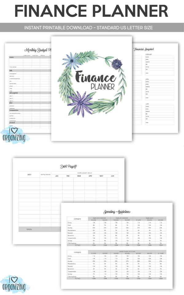 financial budgeting binder instant printable download home