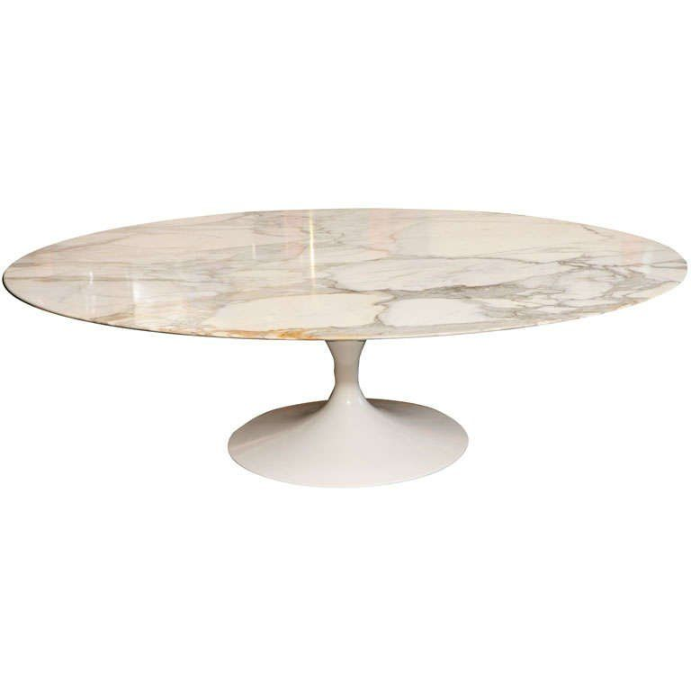 Early Saarinen Oval Tulip Coffee Table Calacatta D Oro Marble Oval Tulip Coffee Table Coffee Table Tulip Coffee Table