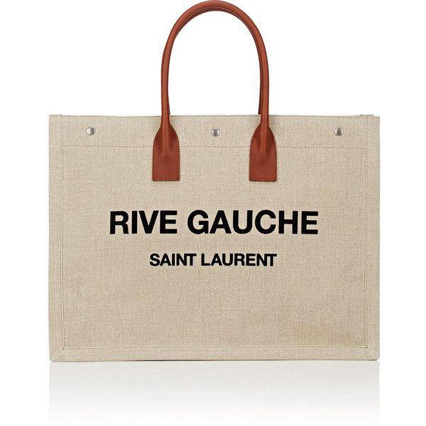 Womens Rive Gauche Large Canvas Tote Bag Saint Laurent fXLschL5iv