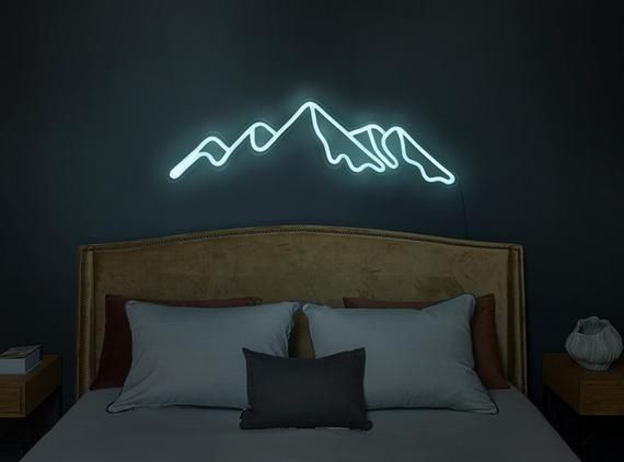 Mountain Led Neon Sign | Bedroom Neon Sign | Mountain led light | Mountains wall art 10% off SALE 🔥