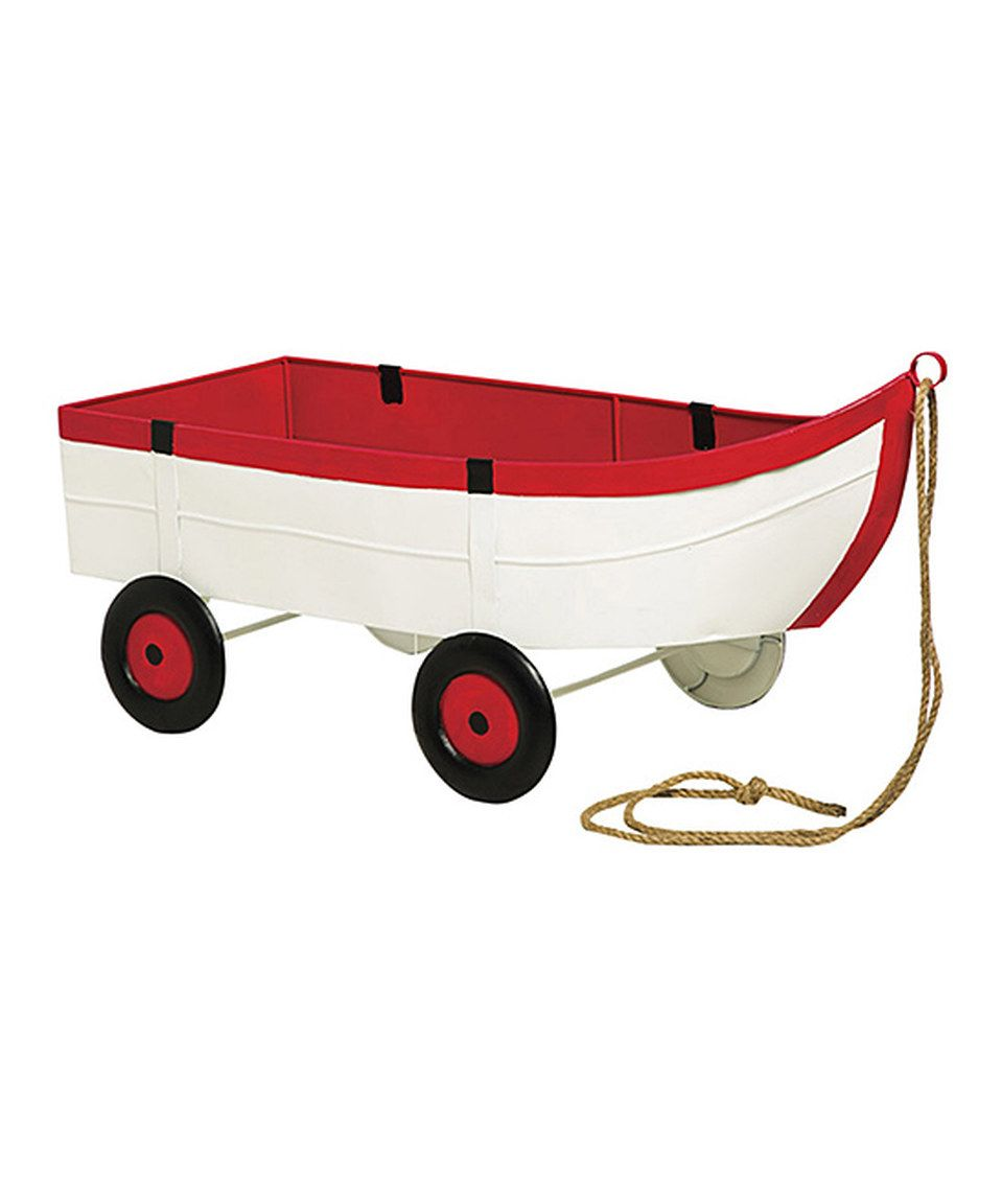 Look at this #zulilyfind! Metal Boat Planter by Evergreen #zulilyfinds