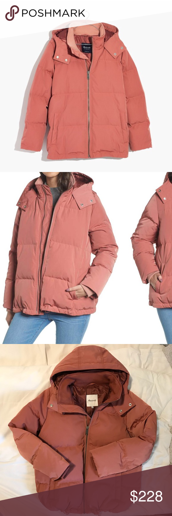 0a45f1a548a Madewell Quilted Down Puffer Parka Jacket Small Madewell Quilted ...