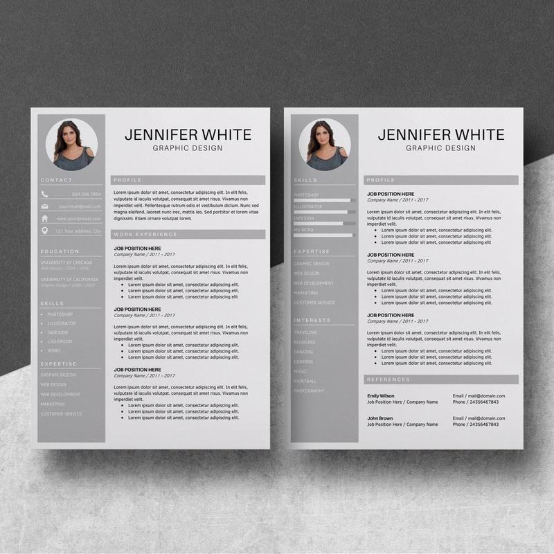 2 page resume template resume cv template natalie