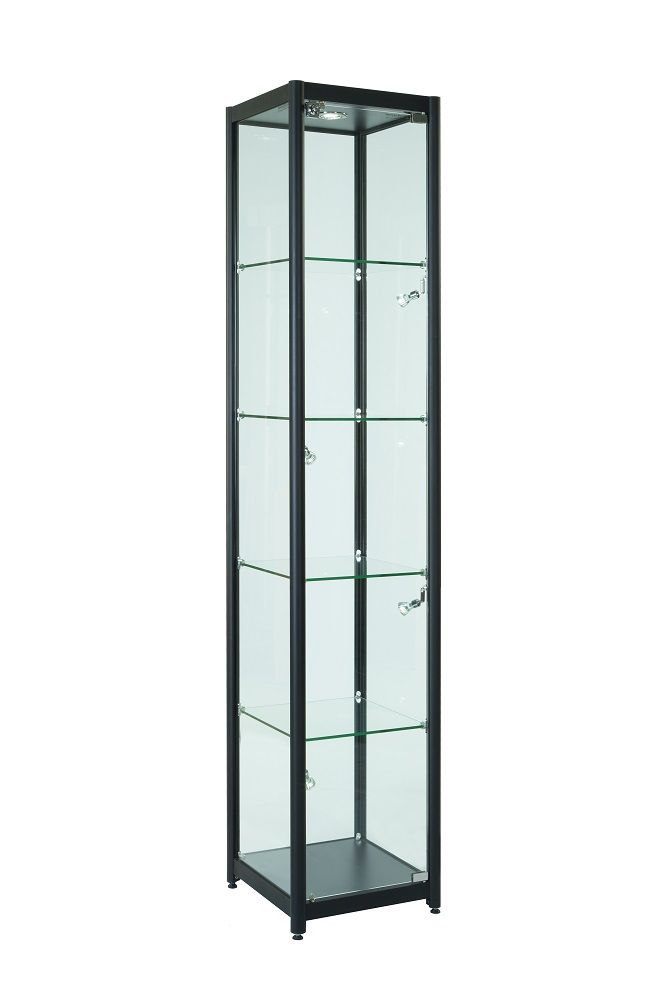 Our Lowest Priced Display Tower Unit, Lockable Cabinet With LED Lighting As  Standard Product Features