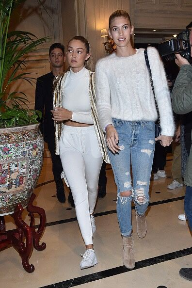 Hadid News || Your best and ultimate source for all things about the Hadid sisters - October 1: Gigi Hadid and Devon Windsor arriving...